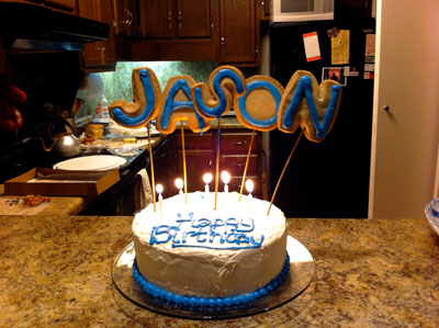 Birthday cake from Jason's homemade-corned-beef-sandwich party