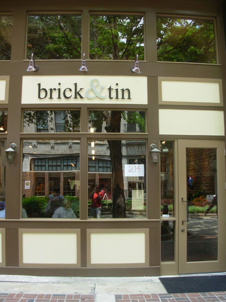 brick & tin entrance
