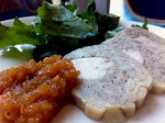 Galantine with persimmon jam