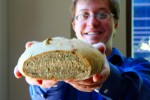 Jason holding bread
