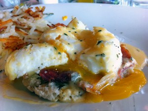 Over Easy's Eggs Benedict