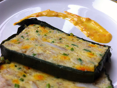 Saffron-seafood terrine